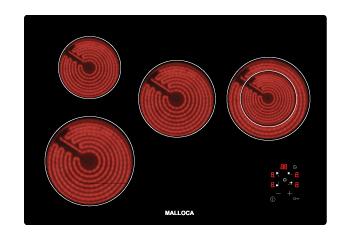 Bếp âm điện Malloca 4 bếp MH 04R