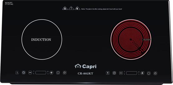 Bếp kết hợp điện từ Capri CR-802KT