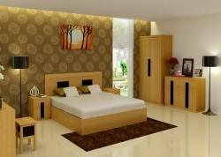 Bộ phòng ngủ người lớn gỗ sồi BNL-04