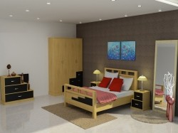 Bộ phòng ngủ người lớn gỗ sồi BNL-09
