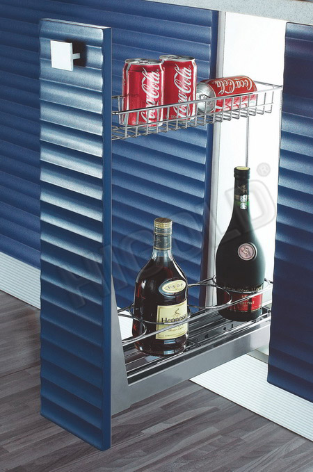 Kệ 2 tầng chai lo Higold  inox 304 tủ 200mm -305003