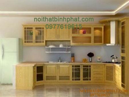 Tủ bếp gỗ sồi - ash TBSA-01
