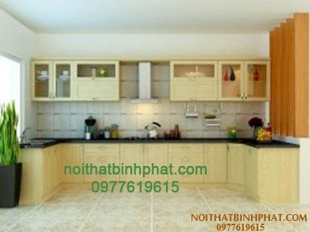 Tủ bếp gỗ sồi - ash TBSA-04