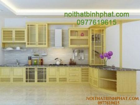 Tủ bếp gỗ sồi - ash TBSA-06
