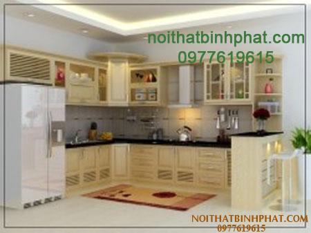 Tủ bếp gỗ sồi - ash TBSA-08