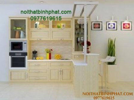 Tủ bếp gỗ sồi - ash TBSA-14