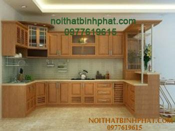 Tủ bếp gỗ xoan đào TBX-01