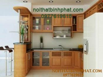 Tủ bếp gỗ xoan đào TBX-02