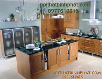 Tủ bếp gỗ xoan đào TBX-03